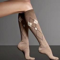 Baklava Desenli Kışlık Çorap Modelleri
