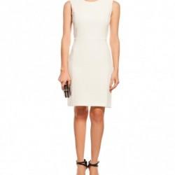 Beyaz Yeni Sezon Koton Elbise Modelleri