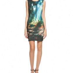 Desenli Yeni Sezon Koton Elbise Modelleri