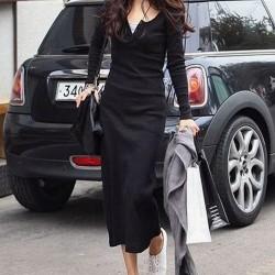Siyah Yeni Mevsimlik Elbise Modelleri