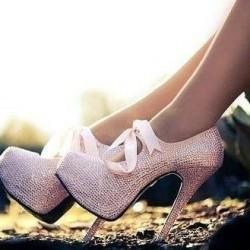 Taşlı Parlak Topuklu Ayakkabı Modelleri