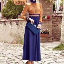 Bayramlık Tesettür Elbise Modeli