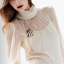 Beyaz Şifon Bluz Modelleri