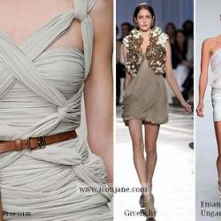Mini Drapeli Elbise Modelleri