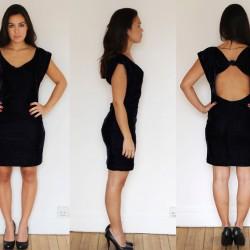 Sırt Dekolteli Kadife Elbise Modelleri