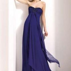 Straplez Gece Elbisesi Modelleri