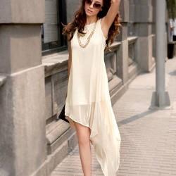 Zarif Yeni Asimetrik Kesim Elbise Modelleri