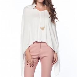 Beyaz Panço Kışlık Giyim Modelleri