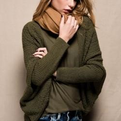 Haki Hırka Kışlık Giyim Modelleri
