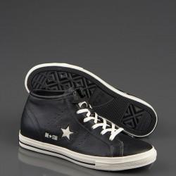 Siyah Deri Converse Bayan Ayakkabı Modelleri