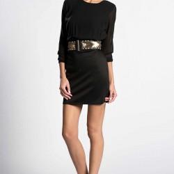 Siyah Elbise ve Kemer Şık Kombin Türleri