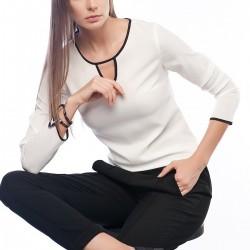 Beyaz Bluz Sateen Yeni Sezon Modelleri
