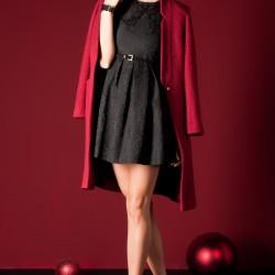 Dantel İşlemeli Sateen Elbise Modelleri