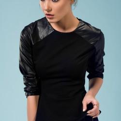 Deri Detaylı Bluz Yeni Sezon adL Modelleri
