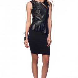 Deri Detaylı Yeni Sezon Elbise Modelleri