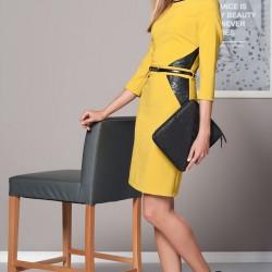 Kemerli Hardal Elbise Duse Yeni Sezon Modelleri