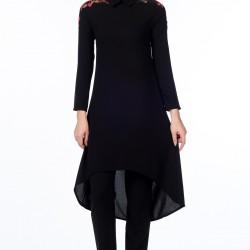 Siyah Gönül Kolat Tunik Modelleri