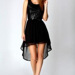 Siyah Mini Etekli Mezuniyet Balosu Kıyafetleri