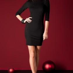 Siyah Sateen Elbise Modelleri