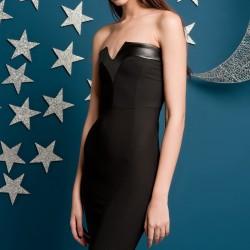 Straplez Siyah Elbise Yeni Sezon Kakao Suit Modelleri