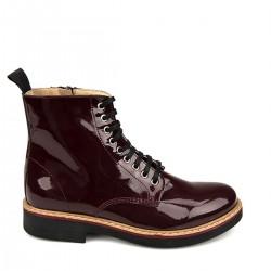 Bordo Parlak Bot Yeni Sezon Ziya Ayakkabı Modelleri