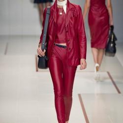Bordo Uzun Ceket Trussardi 2015 İlkbahar - Yaz Modelleri