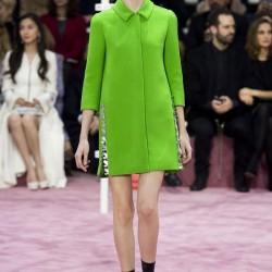 Fıstık Yeşili Kaban Christian Dior 2015 İlkbahar-Yaz Modelleri