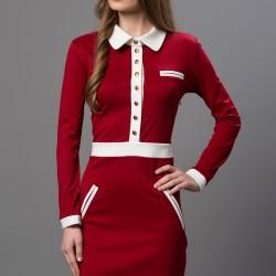 Kırmızı Elbise 2015 Versace 19.69 Modelleri