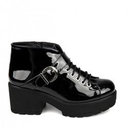 Siyah Parlak Yeni Sezon Ziya Ayakkabı Modelleri
