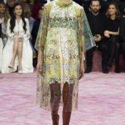 Tül Detaylı Elbise Christian Dior 2015 İlkbahar-Yaz Modelleri