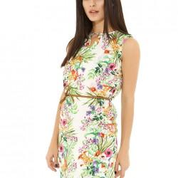 Çiçek Desenli Kolsuz Elbise 2015 Koton Modelleri