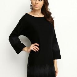 Düz Siyah Elbise Armani Jeans Etek ve Elbise Modelleri