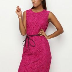 Dantel İşlemeli Elbise Armani Jeans Etek ve Elbise Modelleri