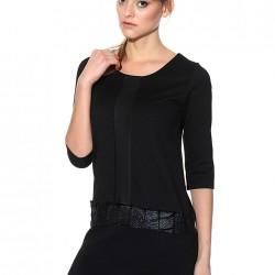 Deri Kemerli Siyah Batik Yeni Sezon Elbise Modelleri