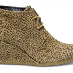 Dolgu Topuk Leopar Desenli Toms 2015 Ayakkabı Modelleri