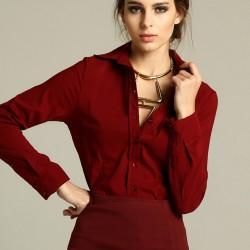 Gömlek Trend Renk Marsala Modelleri