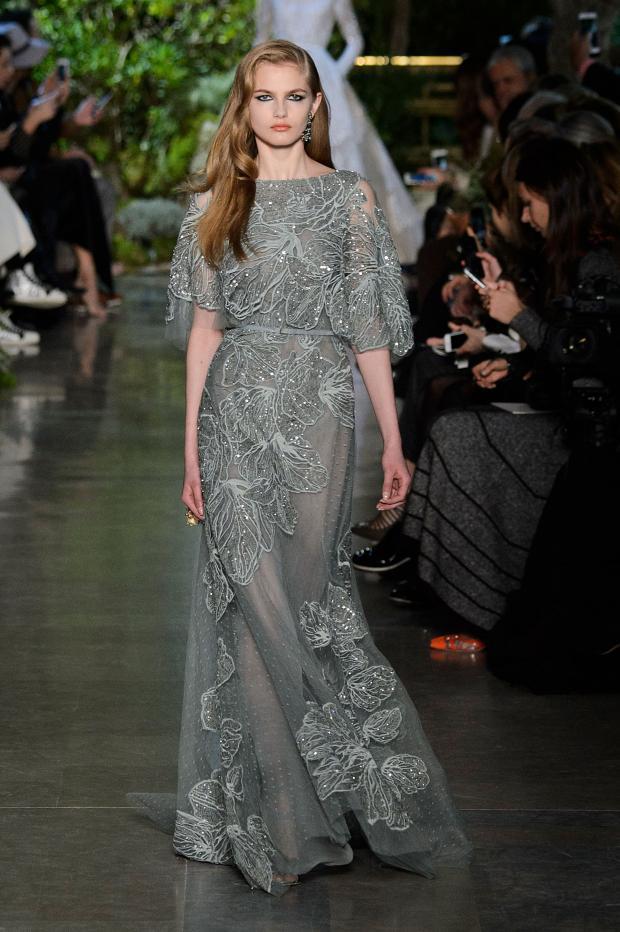 Gösterişli Elbise Elie Saab 2015 İlkbahar - Yaz Haute Couture Koleksiyonu