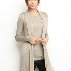 Gri Uzun Hırka 2015 Silk And Cashmere Modelleri