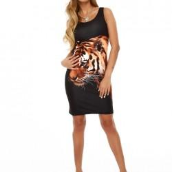 Kaplan Desenli Sense Elbise Modelleri