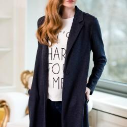 Lacivert Uzun Ceket Vavist 2015 Modelleri