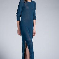 Mavi Elbise Twist Yeni Sezon Modelleri