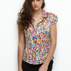 Rengarenk Çiçek Desenli Gömlek 2015 Silk And Cashmere Modelleri