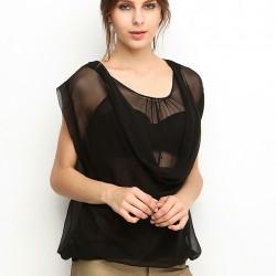 Tül Detaylı Kolsuz Bluz 2015 Silk And Cashmere Modelleri