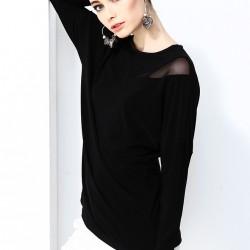 Tül Detaylı Siyah Bluz 2015 Laranor Modelleri
