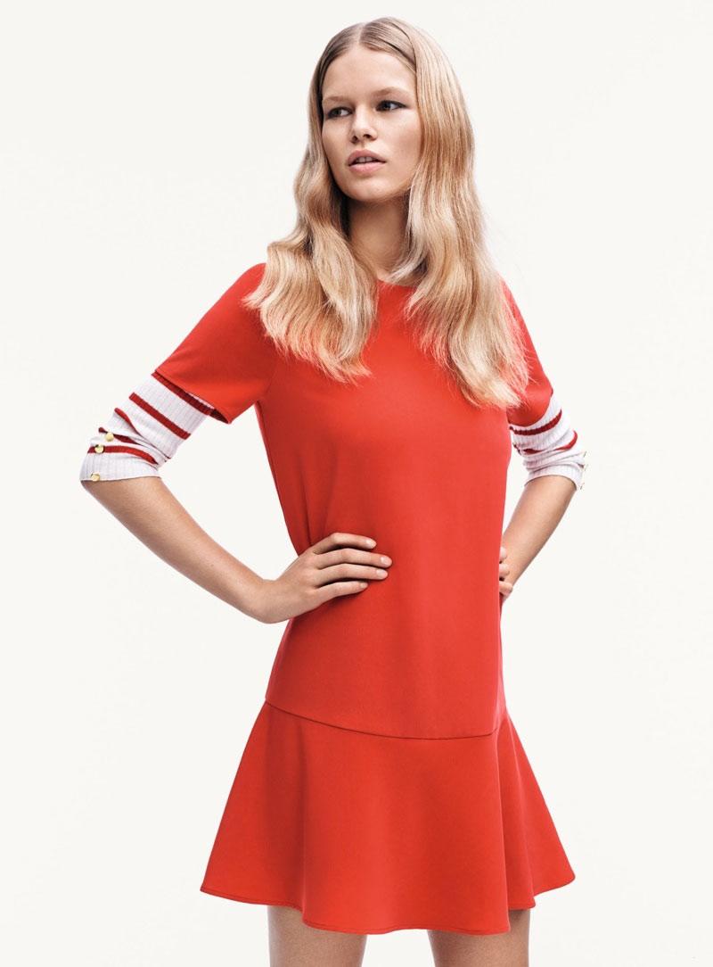 Turuncu Elbise Mango 2015 İlkbahar Modelleri