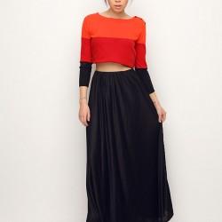 Uzun Etek Armani Jeans Etek ve Elbise Modelleri