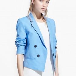 Açık Mavi Mango Blazer Ceket Modelleri