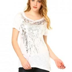 Baskılı Beyaz Tişört Yeni Sezon Vero Moda Modelleri