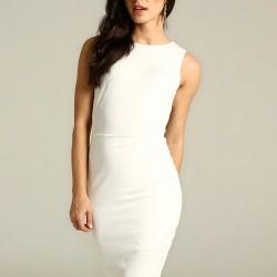Beyaz Kolsuz Mavi 2015 Elbise Modelleri