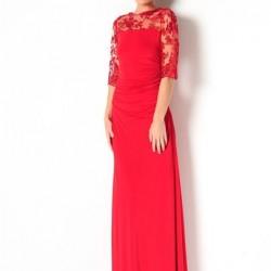 Kırmızı 2015 Dantelli Abiye Modelleri